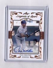 Paul Molitor 2011 Leaf Legends of Sport Auto Autograph #19/31