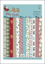Papermania A5 Backing Papers,12 Designs,24 Sheets,160gsm Jolly Santa BNIP