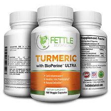 Tumeric Curcumin with Bioperine 180 Caps 1300mg Daily Dose Turmeric Tumerics