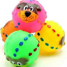 Pet Dog Cat Play Squeaky Squeaker Quack Sound Chew Treat Holder Funny Ball EF