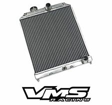 VMS RACING POLISHED ALUMINUM DUAL CORE RADIATOR FOR 96-98 HONDA CIVIC EK4