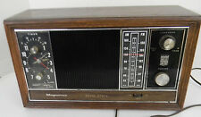 Vintage Magnavox Solid State Alarm Clock Radio Wood Grain TableTop Model IFMO55
