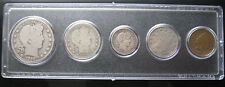 1909 US Coin Year Set 5 Coins 90% Silver w/ Indian Cent