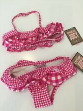 NWT 2 yr Juicy Couture Bikini Swim 2 Piece Set Swimsuit Bathing Suit Pink Check