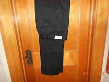 NEW w TAG WOMENS DRESS WORK PANTS BLACK SIZE 16 UNHEMED DEEP POCKETS FLAT FRONT