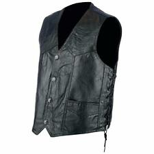 Gilet Jacket en cuir patchwork + Lacet  Taille XXL - 2XL - Bikers Country
