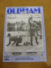 12/03/1988 Oldham Athletic v Swindon Town  . Item appears to be in good conditio