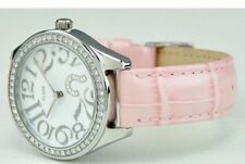 Guess Watch Pink Stainless Steel And Genuine Leather U95096L1 Women's