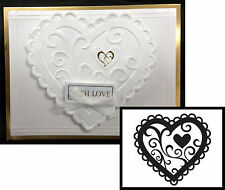 VALENTINE HEART embossing folder DARICE folders 1218-46 Wedding Love Anniversary