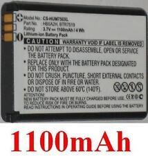 Batterie 1100mAh type BTR7519 HB5A2H Pour Huawei U8500