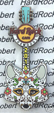2016 HARD ROCK CAFE FOXWOODS FOX SUGAR SKULL GUITAR LE PIN