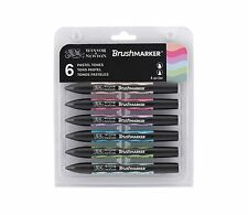 Winsor & Newton BrushMarker Marker Pen Set of 6 Pastel Colour Tones