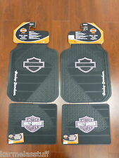 Harley-Davidson Factory Front and Rear Car Truck Rubber Floor Mats Pink NEW