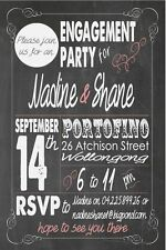 Baby Shower Engagement Party Invitations Invite Personalised Chalk Board