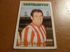 A&bc chewing-gum football card 1972/73 rouge orange dos john mcgrath southampton