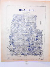 Old Real County Texas Land Office Owner Map Leakey Camp Wood Rio Frio