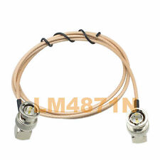 cable BNC plug right angle to male RA 120cm  RG179 75ohm SDI pigtail 3G HD SD