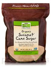 NOW� Real Food - Sucanat Cane Sugar (Certified Organic) - 2 lbs (907 Grams) by N