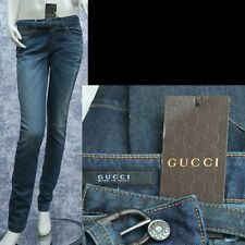 GUCCI New sz 4 - 40 Womens Authentic Designer Leggings Pants Jeans w bamboo belt