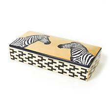 Jonathan Adler Black & Gold Porcelain Animalia Zebra Trinket Box