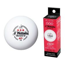 Nittaku 3-Star PREMIUM 40+ Table Tennis Balls Plastic Ball