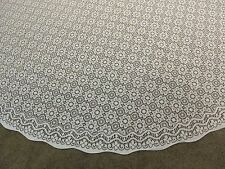 "White Lace Clooney design tablecloth  90""round"