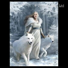 *WINTER GUARDIANS* Goth Fantasy Wolf Art 3D Postcard By Anne Stokes (15x10cm)