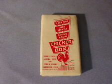 Vintage Chicken Box Restaurants & Drive Inns Lakewood CO Advertising Soap Bar