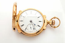 Antique 1800s RARE MASONIC Elgin SCALLOP THICK 18k Gold 18S Pocketwatch 165g