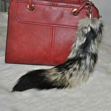New Cute Ball Pendant Soft Ornament Leather Dangle Fluffy Fox Fur Tail Bag Phone