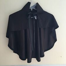 Fredericks of Hollywood Short Black Open Collar Cape One Size