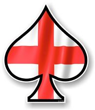 ACE OF SPADES With St Georges Cross England Flag Vinyl Car Helmet Sticker Decal