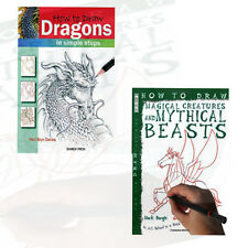 How to Draw Children's 2 Books Collection Set ( Dragon and magical creatures)new