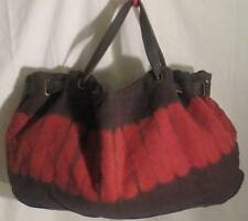 Old Navy Large Brown&Red Canvas Tote Bag Tote