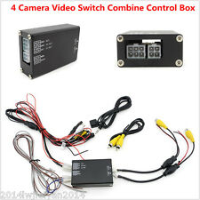 Car Front Rear Right Left View Parking Camera Video Switch 4 Channel Control Box