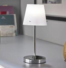 LED Touch Me Nachttischlampe Leselampe Bett dimmbar Tischlampe Chrom T92 B-Ware