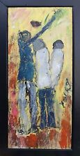 """Purvis Young """"Basketball Players"""" Original Outsider Artwork Museum Quality COA"""