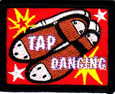 """""""TAP DANCING"""" PATCH - Iron On Embroidered Applique Patch/Dance, Music"""