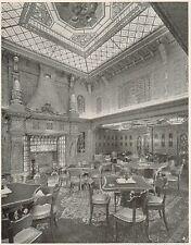 D1530 Conte Grande - Sala dei Fumatori - Stampa antica - 1928 old print