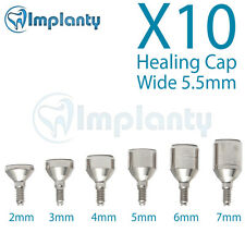 10 Wide Healing Cap 5.5mm  Dental Abutment internal Hex Fit Alpha Bio Adin Mis