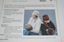 Green Mountain Knitting Pattern #94 Painted Hats easy 2 color circ or dpn