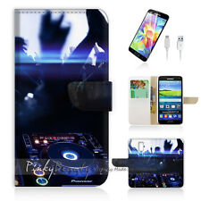Samsung Galaxy S5 Print Flip Wallet Case Cover! DJ Music and Dance P0259
