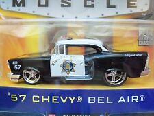 "JADA DUB CITY ""BIGTIME (BIG TIME) MUSCLE"" '57 CHEVY BEL AIR POLICE CAR - DIECAST"