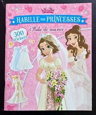 French Disney's DRESS THE PRINCESSES Sticker Paper Doll Book,Wedding Dress Issue