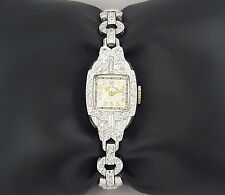Vintage Lady Elgin 1.5 ct Diamond Platinum & 14K White Gold Watch
