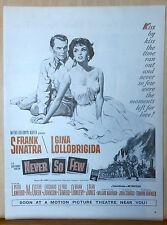 "1959 magazine ad for film ""Never So Few"" - Frank Sinatra & Gina Lollobrigida"
