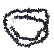 """BLUE GOLDSTONE 18"""" CHIP NECKLACE W/ SS CLASP"""