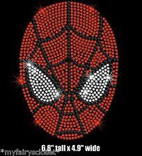 "6.8"" tall Spiderman iron on rhinestone transfer applique patch"