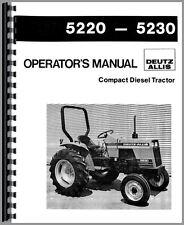 Allis Chalmers 5220 5230 Tractor Operators Manual (DE-O-5220,5230)