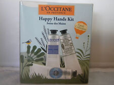 L'Occitane Happy Hands Kit Shea Butter Lavendar Verbena Cooling Cream Gel Set